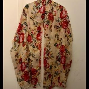 Charlotte Russe floral scarf wrap forever 21 H&M